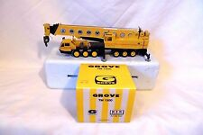 GROVE TM 1500 CRANE SIX AXLE DIECAST SCALE 1/50 NZG 152 IN ORIGINAL BOX/SLEEVE