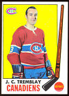 1969 70 TOPPS 5 J.C. TREMBLAY NM MONTREAL CANADIENS HOCKEY CARD FREE SHIP TO US