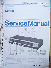 Service Manual Philips 22 RH 783 Mark II ,ORIGINAL