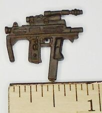 BIN A32  G I JOE Accessory    Brown Machine Pistol SMG Gun  2003 CLAWS Commander