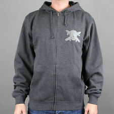 Fourstar CHENILLE PATCH Zip Front Hoodie Sweatshirt Mens Large Charcoal Grey NEW