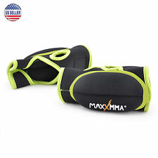 MaxxMMA Weighted Gloves 0.75 lb ea 1.5 lb set (Neon), Exercise Fitness Workout