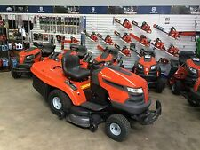 AS NEW Husqvarna Ride On Mower, Grass Catcher Inc, ONLY 21 HOURS USE, $6499 New!