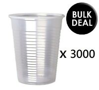 3000 x CLEAR Plastic 7oz Disposable Cups 200ml Drinking Glass Vending Style Cup