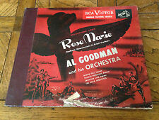 """AL GOODMAN """"SELECTIONS FROM ROSE MARIE"""" 1952 RCA VICTOR EP 4-RECORDS BLUE VINYL"""