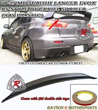 RS-Style Rear Trunk Lip Spoiler Wing (ABS) Fits 08-16 Mitsubishi Lancer EVO 10 X