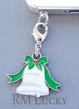 Christmas Bell cell phone Charm Anti Dust proof Plug ear jack fit iPhone