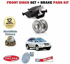 FOR LEXUS RX300 RX400H HYBRID RX350 2003-  FRONT BRAKE DISCS SET + DISC PADS KIT