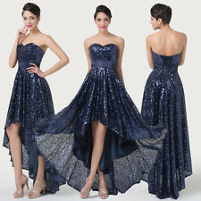 PLUS SIZE Sequins High-Low Vintage 1940s Retro Evening Party Formal Prom Dresses