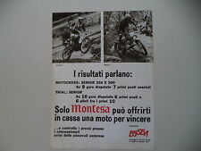 advertising Pubblicità 1977 MOTO MONTESA CROSS e RUSTIGNOLI/TRIAL e ADAMOLI