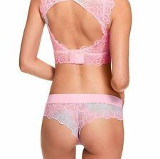 Victoria's Secret PINK Date Lace Cheekster Panty Cloud Tie Dye Pastel Blue Swirl