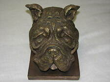 Bulldog English Dog Bookend BOOK end Statue Figure Georgia Tech Decor Man Cave