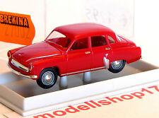 Brekina H0 27002 Wartburg 311/1000 Limousine 4-türig weinrot NEU OVP sehr selten