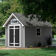Everton 8 ft. x 12 ft. Deluxe Wood Shed, 740 Cubic Feet of Storage