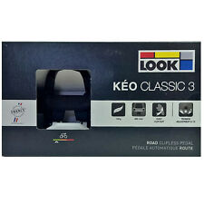 NEW 2017 LOOK KEO CLASSIC 3 Road Pedals with Gray Grip Cleats: BLACK/WHITE