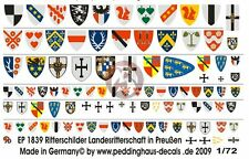 Peddinghaus 1/72 Prussian Knight Shield and Cape Markings [Decal] 1839