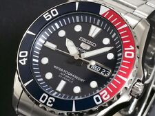 SEIKO MENS AUTOMATIC DIVER STEEL WATCH 100M SNZF15 SNZF15K1 Warranty, Box
