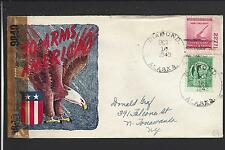DIAMOND, ALASKA COVER 1943, TERRITORIAL TYPE 1, WW2 PATRIOTIC.