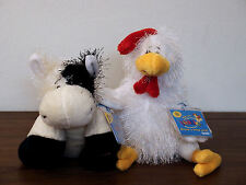 NWT Webkinz Lot Of 2 Farm Animals - Chicken & Cow - sealed code tags
