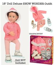 """18"""" Doll Deluxe Winter Pink SNOW SUIT+SNOWSHOES SET Our Generation American Girl"""