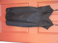 Ladies Little Black Cocktail Dress by Nine West 14 Spaghetti Strap Formal Solid