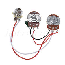 Bass Wiring Harness Prewired Kit for Precision Bass Guitar 250K Pots 1V1T Jack