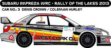 DECALS 1/43 SUBARU IMPREZA WRC - #3 - CRONIN - RALLY OF THE LAKES 2013 - D43226
