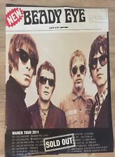 Beady Eye - Euro Tour Gig poster, London, Glasgow, Manchester, Paris..March 2011