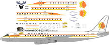 National sunking livery Douglas DC-8-32  decals for Minicraft 1/144 kits