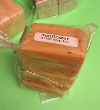 A Wild Soap Bar SUNFLOWER 6 x 1 oz gift size mini travel clean travel lather NEW