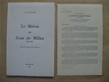 """Louis SCUTENAIRE """" Le bâton de Jean de Milan"""" ENVOI, 1970 / mariën surréalisme"""