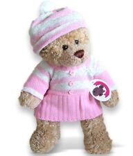 Teddy Bear Clothes fit Build a Bear Pink Knitted Dress & Hat Clothing Outfit