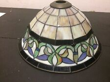 "Colorful Stained Glass lamp Shade 16"" w Project piece?"
