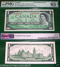 """Only 80k Printed "" BC-45bA-i * F/P  Replacement 1967 Canada $1 Centennial PMG65"