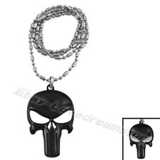 The Punisher Logo Frank Castle Face Pewter Charm Necklace