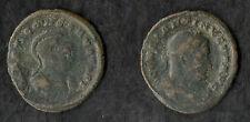 Double Portrait, Constantine The Great Billon Follis, Roman Coin Trier AD 310-13