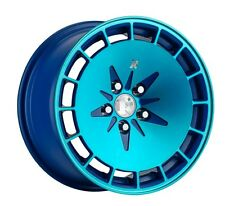16X8 Klutch KM16 5x114.3 +15 Blue Wheels Fits Mr2 Mx5 Protege Mp3