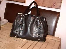 DKNY real leather tote shopper black bag