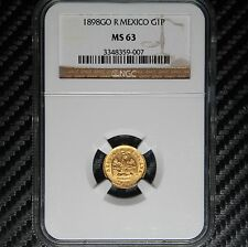 1898-GO R Mexico Gold Peso NGC MS63