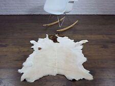 Belle véritable chèvre tapis rare unique, 125cm x 80cm, Go131