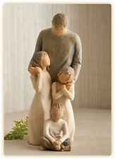Willow Tree Father with 2 Daughters & Son Figurines Gift Set    22961