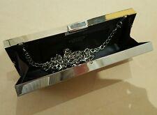 Carvela Kurt Geiger Silver Sparkly clutch bag - unique pencil box style