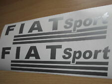 FIAT SPORT  VINYL CAR STICKERS x2