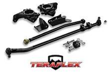 TeraFlex High Steer Knuckle Kit & Complete Drag Link Flip 07-16 Jeep Wrangler JK