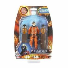 BBC Doctor Who Series 2 Figure- 10th Doctor in Dirty Spacesuit with 2 Obelisks