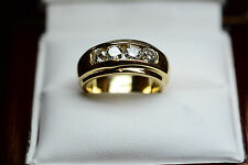 1ct G VS2 Diamond Ring Wedding Eternity  Band 18k Yellow Gold 12.6 gr Size 5.5