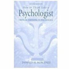 How to Think Like a Psychologist: Critical Thinking in Psychology (2nd Edition)