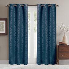 Virginia Pair (Set of 2) Blackout Weave Embossed Grommet Window Curtain Panels
