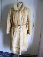 Vintage 1960s real fur coat cream honey mink genuine mink blonde fur size 14 UK