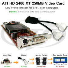 ATI Radeon SFF Low Profile Dual Monitor Video Card 256MB DDR2 PCI-E x16 DVI HD